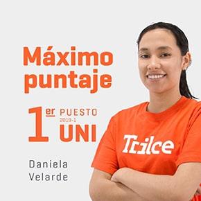 ¡Nuestra alumna Daniela Velarde es primer puesto del examen de admisión de la UNI!